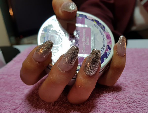 Sparkly Acrylic Prom Nails